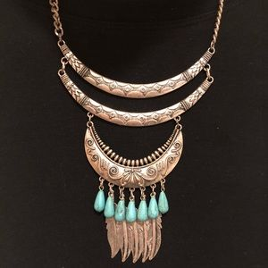Jewelry - Tribal Necklace Turquoise & Silver